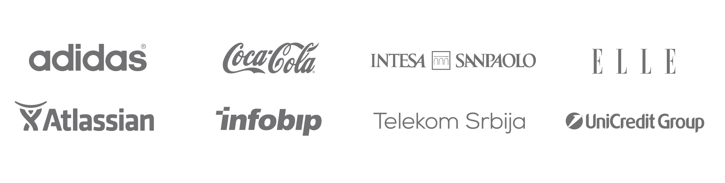 Some of my notable clients: Adidas, Coca-cola, Intesa, Elle, Atlassian, Infobip, Telekom, UniCredit.