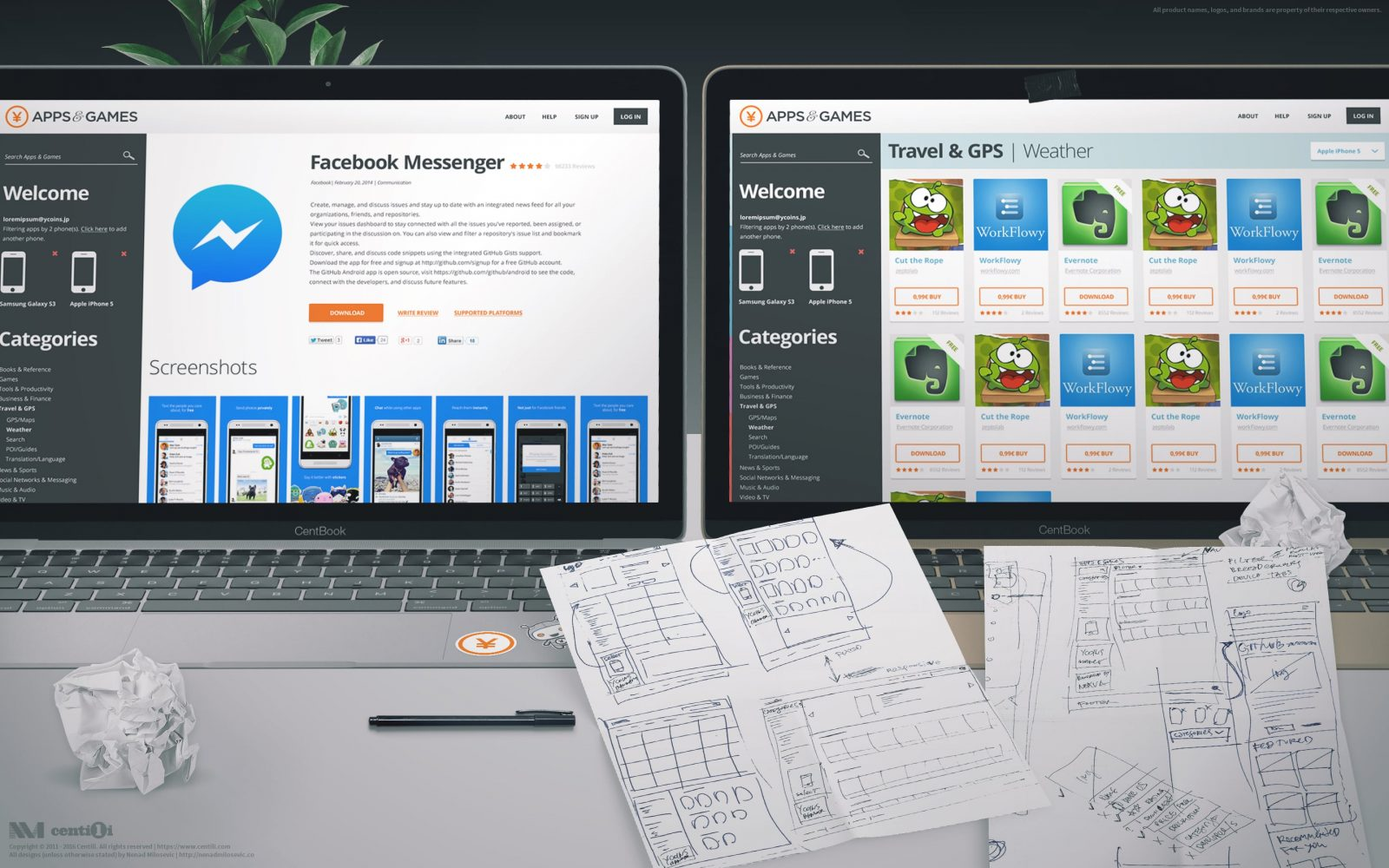 My app store design. So sad this never saw the light of day. (╯︵╰,)