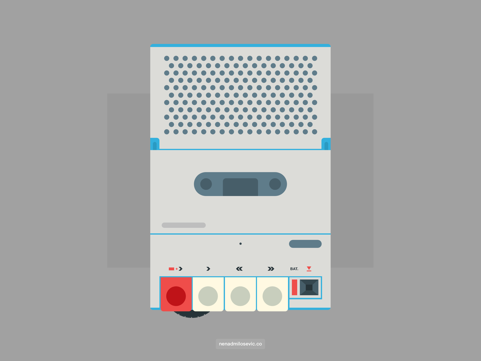 Inter cassette player